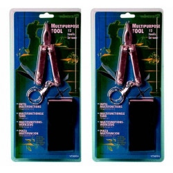 2 pliers 12 functions flat Phillips screwdriver small large knife nail file chisel key holder bending