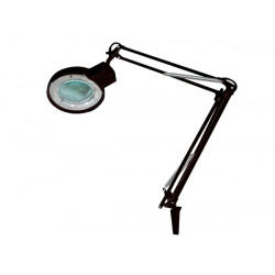 Lamp with magnifying glass 5 dioptre - 22w - black vtlamp2bn