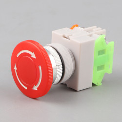 Emergency stop button no nf punch diameter 22 mm for bpr22 boit1 security anti agressio
