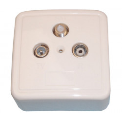 Tv fm satellite plug fitting case tv fm satellite plug television plugs television devices