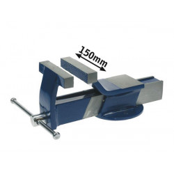 Steel bench vice 150mm with fixed base