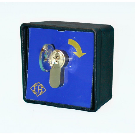 Surface mounting box with impulsive lock, no nc contact extensible to 2 no nc metal case impulsive lock surface mounting box box