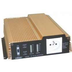 Modified sine wave power inverter 1000w 12vdc in 230vac out pin earth 'soft start'