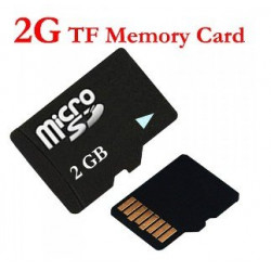 Carte micro sd tf 2go classe 4 grande vitesse card 2gb pour lunette espion video