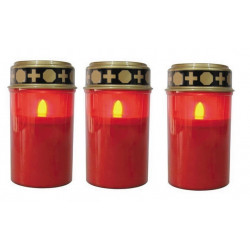 Pack 3 led candle cemetery