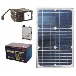Solar panel pack 20w + rechargeable batterie + converter 150w 12vcc 220vac solar panels solar panel solar panel
