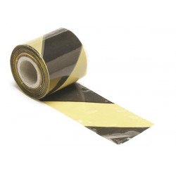 Ribbon black yellow warning 100m 1188-100 perel security