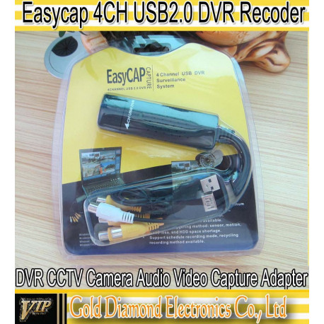 Usb dvr 4 channel cctv camera video capture adapter