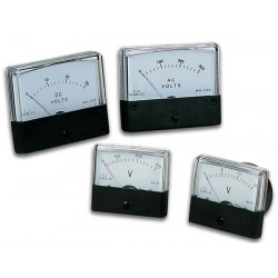Analogue voltage panel meter 50v dc 70 x 60mm