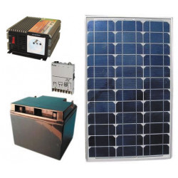 Solar panel pack 40w + rechargeable batterie + converter 300w 12vcc 220vac solar panels solar panel solar panel