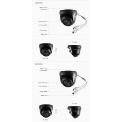 16 channel TVI DVR video security system + hard drive + 12 1080p 2.0MP surveillance cameras + cables and power supply