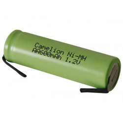 Batterie rechargeable accu ni mh 1.2v 600mah 600rslfmc cosse a souder accumulateur Ni-Mh AA lr06