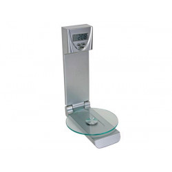 Kitchen scale with clock and timer