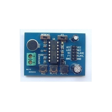 Isd1820 sound voice recording playback recorder module board