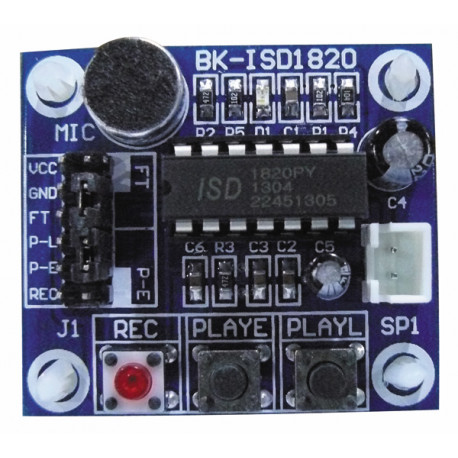Isd1820 voice recording and playback module with mic sound audio for diy robot